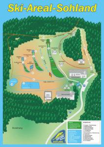 Skiareál Sohland - mapka